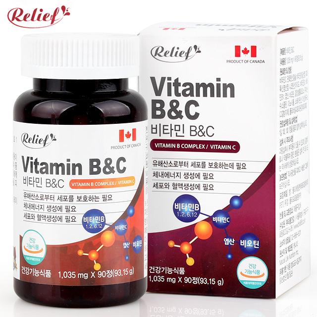 [릴리프] 비타민 B&C 1035mgx90정