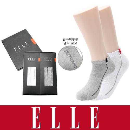 [엘르] 엘르 옴므남성 스니커즈 양말 2족세트