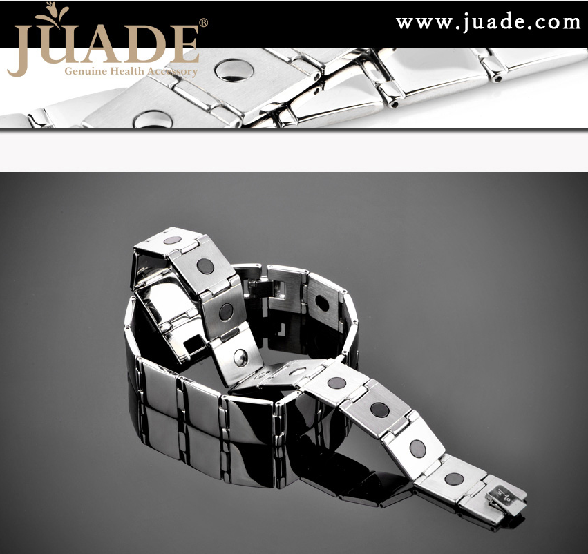 쥬아드 Steel-B302 스텐인리스 스틸 게르마늄 건강팔찌