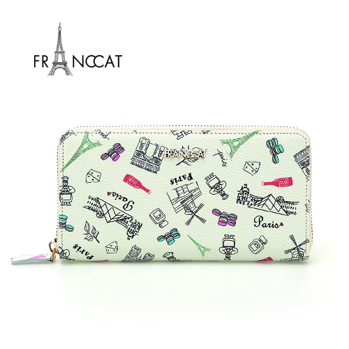 [Franccat]프랑켓디자인지퍼 장지갑FL004