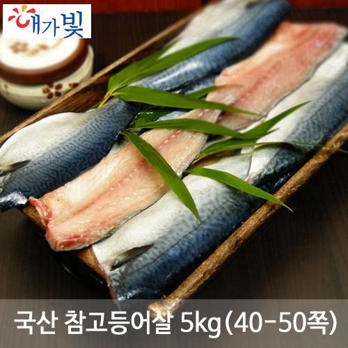 국산 참고등어살 5kg(40-50쪽)