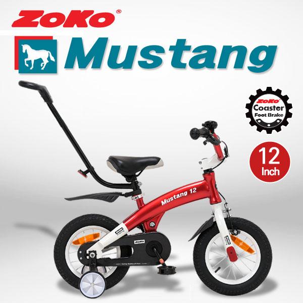 ZOKO 조코 무스탕시리즈12인치 체인자전거(코스터브레이크장착)+보호자밀대