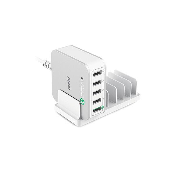 엑토 메가 QC 3.0 5포트 USB 충전기 MCU-05