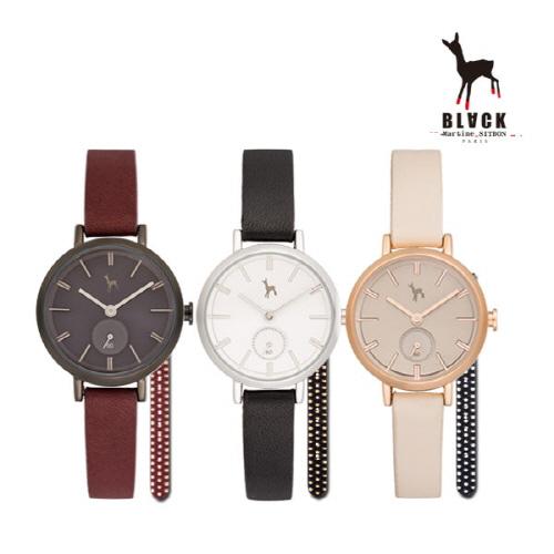 [블랙마틴싯봉]여성 패션 손목 시계+밴드추가 증정 BKL1663L(색상 택1)