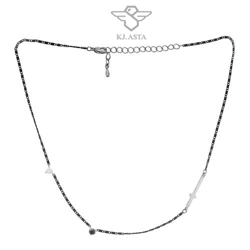 케이제이아스타 십자가 쵸커목걸이 실버 KJN09270/헤어머리끈 사은품랜덤증정