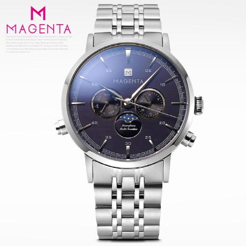 [마젠타]남성문페이즈 메탈시계 MG890-WTBU-M