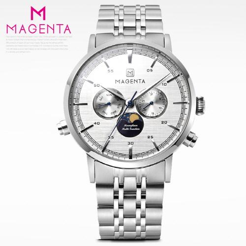 [마젠타]남성문페이즈 메탈시계 MG890-WTWT-M